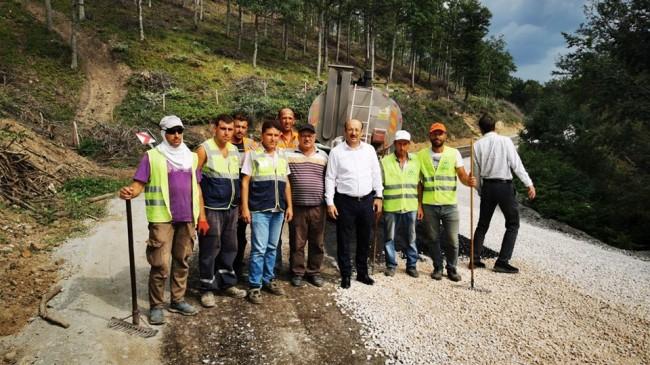 Köy yolları büyük bir hız ile asfaltlanıyor