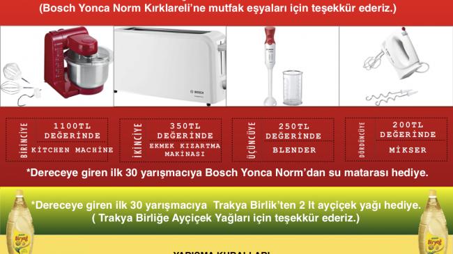 """""""Üzüm Bağından Sofraya"""" Yemek Yarışması"""