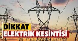 Babaeski' de Elektrik kesintisi