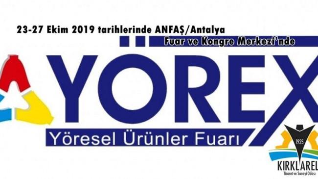 Kırklareli T.S.O. YÖREX Antalya fuarına katılacak