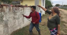 Alpullu' da böcek ilaçlamaları hız kesmeden devam ediliyor