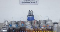 Müsellim Köyü'nde kaçak  içki operasyonu