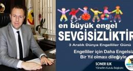"""KTSO Başkanı Soner Ilık'tan  """"3 Aralık Dünya Engelliler Günü"""" mesajı"""
