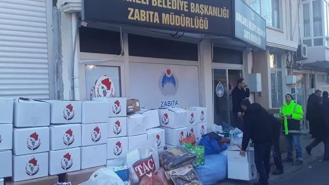 Kırklareli Belediyesi'nden depremzedelere yardım kampanyası
