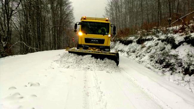 Kırklareli'nde kar etkili oldu