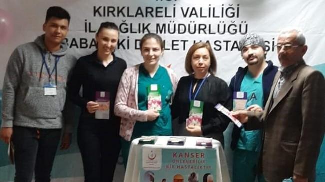 Babaeski Devlet Hastanesi'nde kanserle ilgili bilgilendirme yapıldı