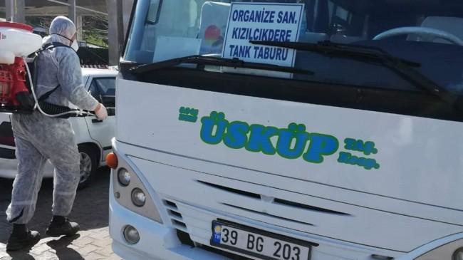 Üsküp Belediyesi'nde dezenfekte çalışmalarına devam