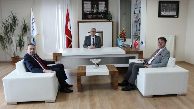 SMMMO Başkanı Azabağaoğlu'na KTSO Başkanları Ilık ve Özsan'dan ziyaret