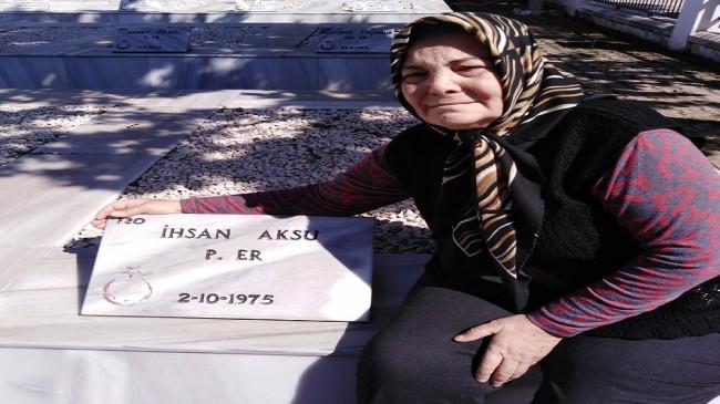 Şehit abisinin mezarına ilk  ziyaret 45 yıl sonra