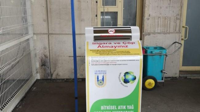 """Lüleburgaz'da """"Bitkisel Atık Yağ Toplama"""" projesi"""