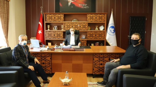 Rektör Şengörür'e  MHP İl Başkanı'ndan ziyaret