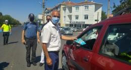 Kaymakam Elmacıoğlu trafik denetimine katıldı