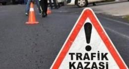 Babaeski'de otomobil  devrildi: 1 yaralı