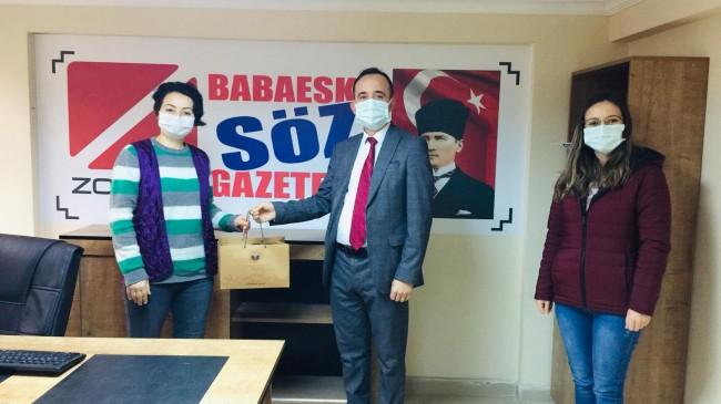 İlk Kutlama Vali Bilgin ve  İl Basın Müdürü Tiran'dan