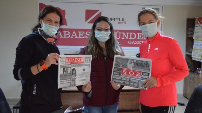 Babaeskili Kadın Maratoncular  2 kıta arasını 2 kere koştu