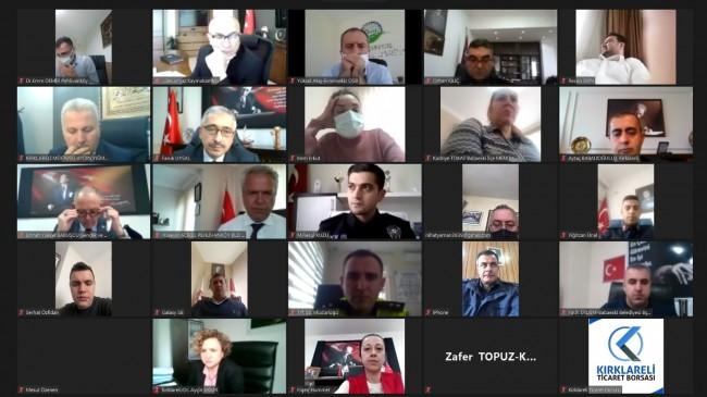 Kırklareli'de Pandemi toplantısı yapıldı