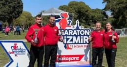 Babaeskili Maratoncu Ümit Er madalyaları topluyor