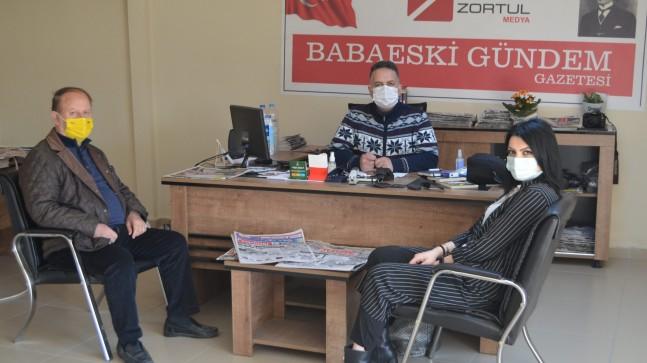 Başkan Aydın'dan Zortul Medya'ya ziyaret