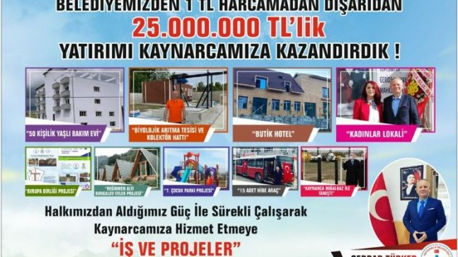 """Başkan Türker; """"Kaynarca'ya 2 yılda 25 milyonluk yatırım"""""""